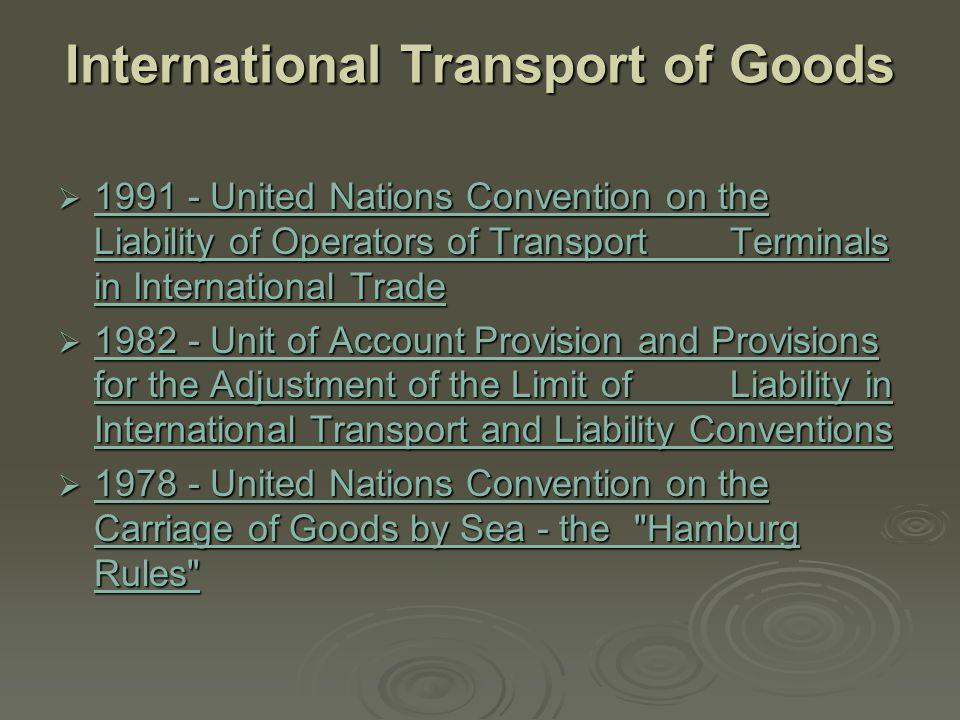 International Transport of Goods