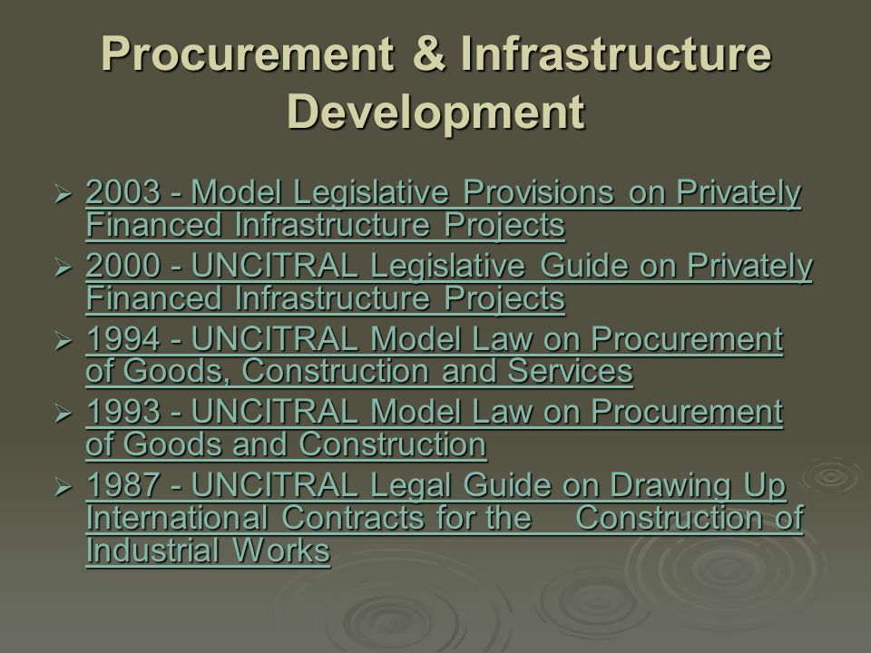 Procurement & Infrastructure Development