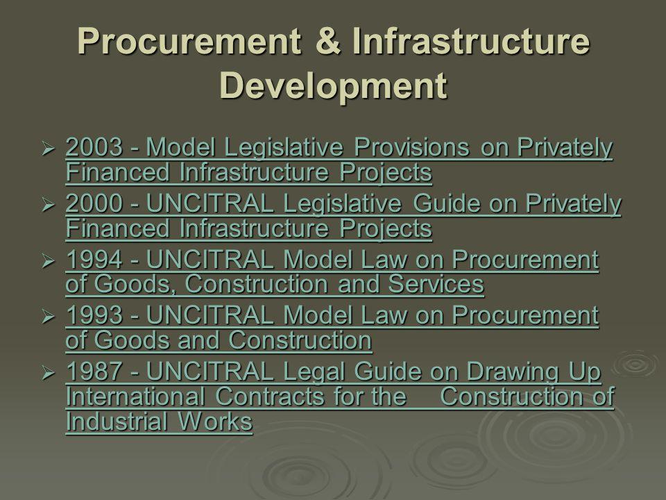 Procurement & Infrastructure Development