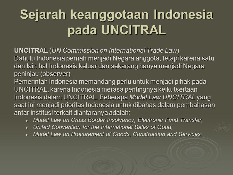 Sejarah keanggotaan Indonesia pada UNCITRAL