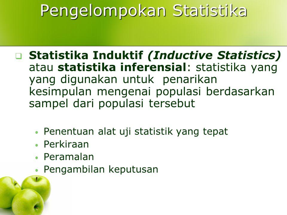 Pengelompokan Statistika