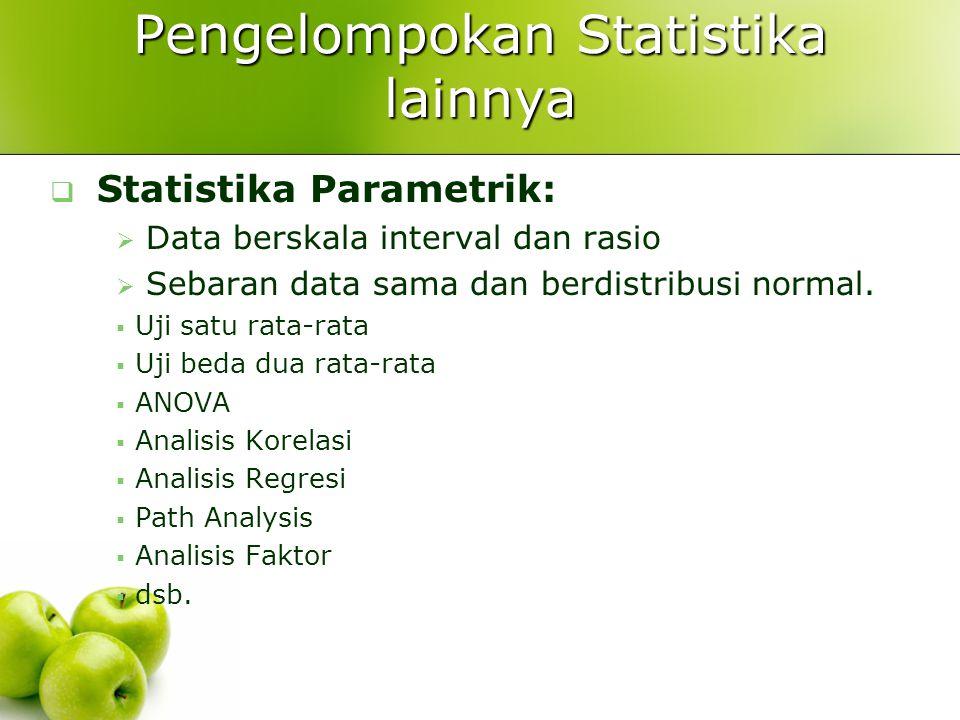 Pengelompokan Statistika lainnya