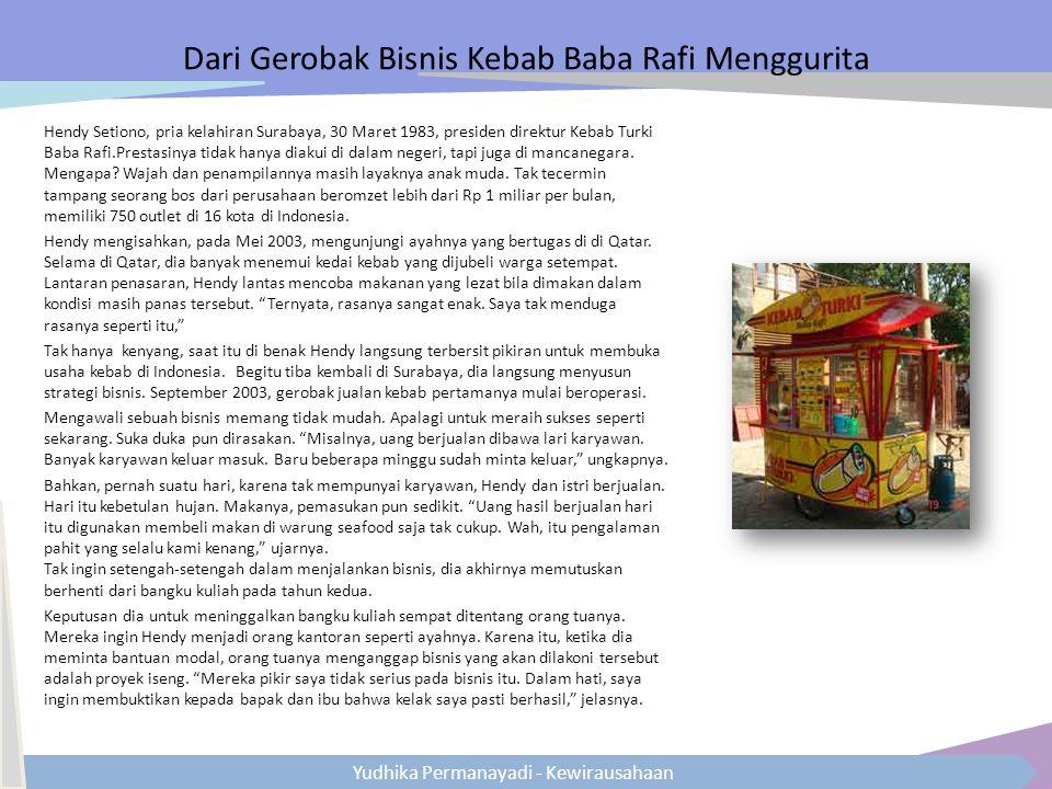 Dari Gerobak Bisnis Kebab Baba Rafi Menggurita