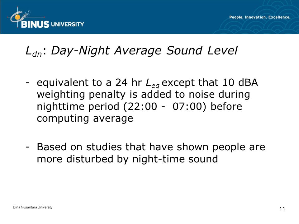 Ldn: Day-Night Average Sound Level