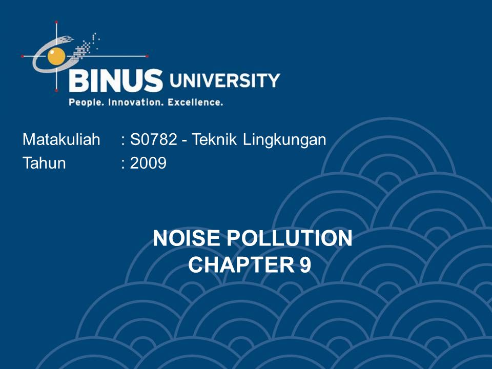 NOISE POLLUTION CHAPTER 9