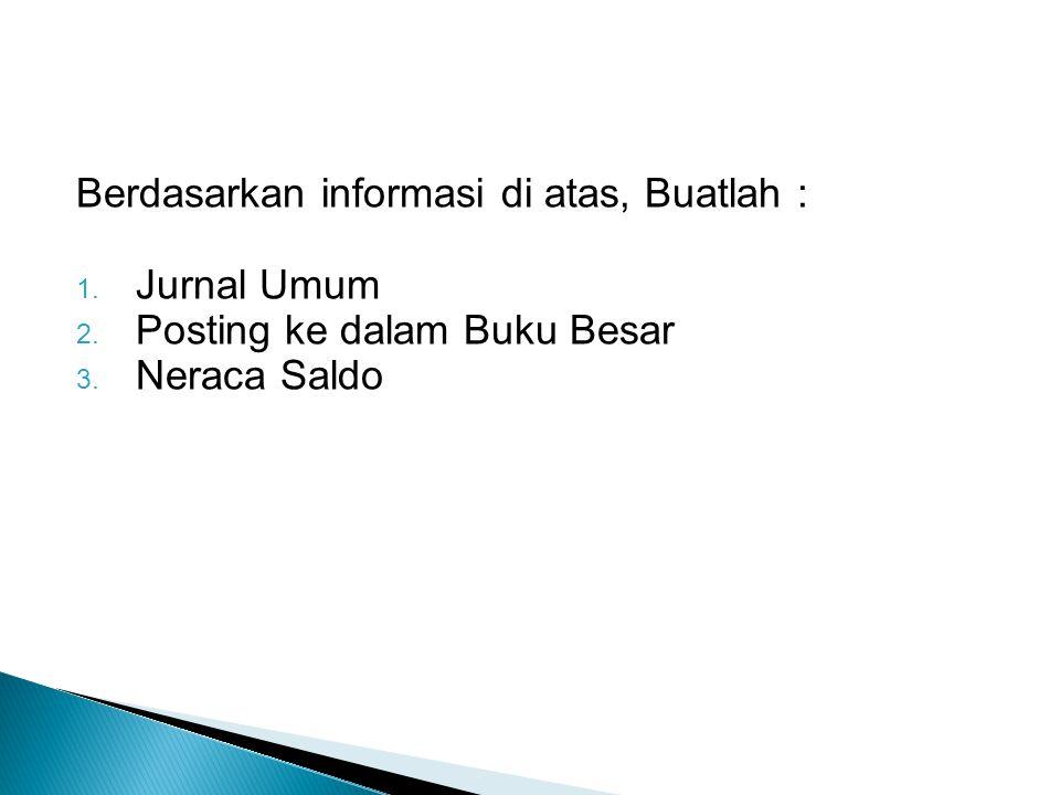 Berdasarkan informasi di atas, Buatlah :