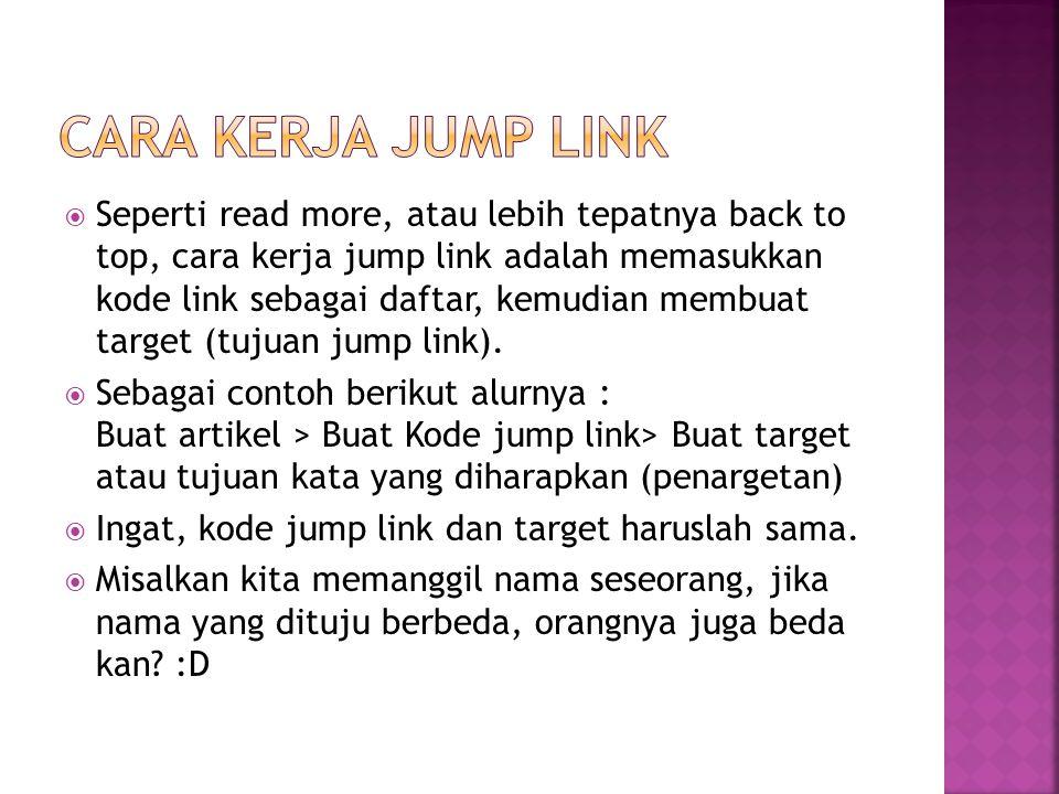 Cara kerja Jump Link