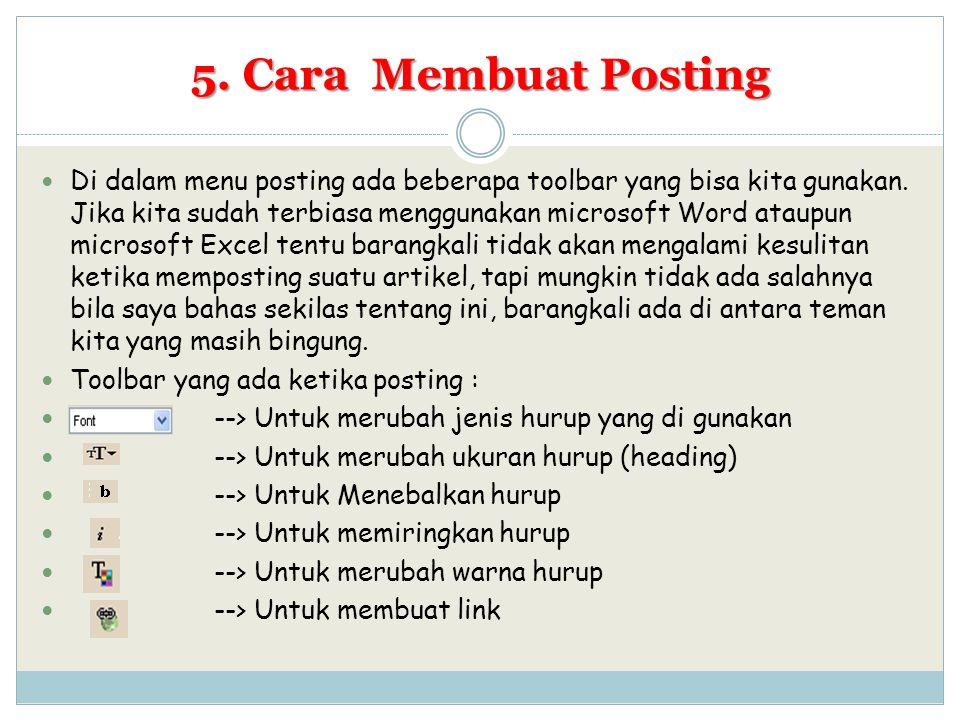 5. Cara Membuat Posting