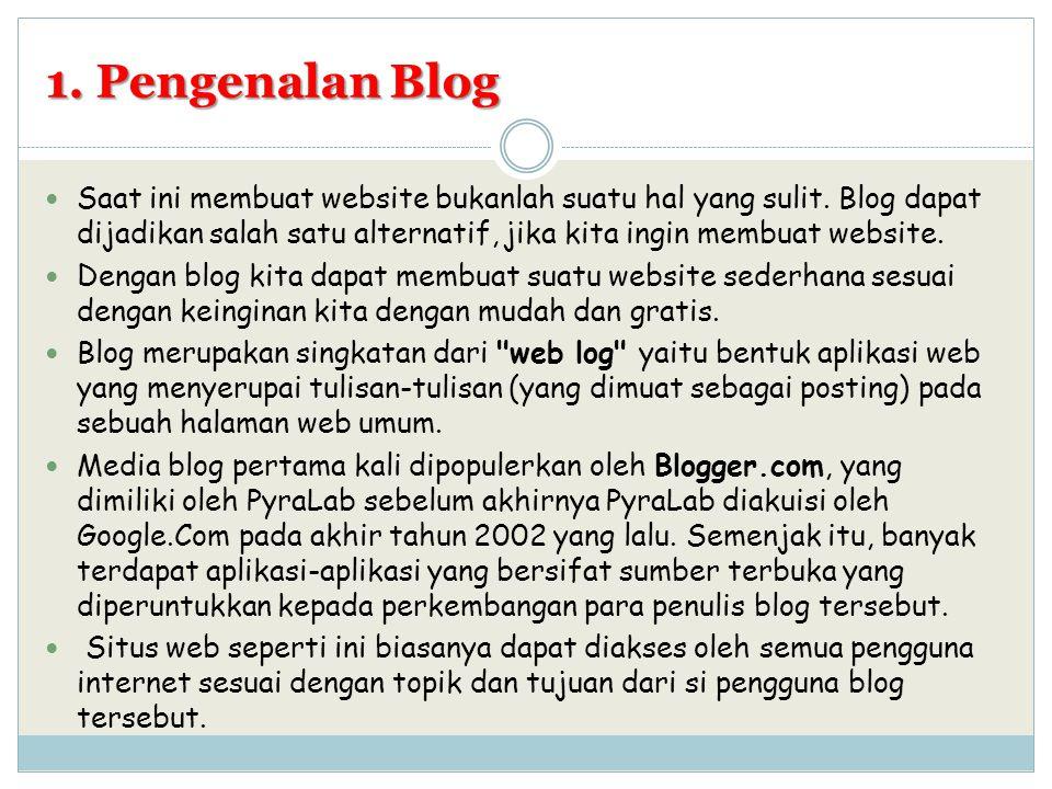 1. Pengenalan Blog