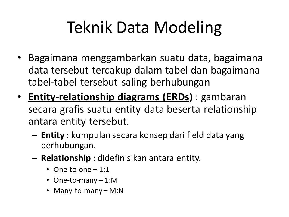 Teknik Data Modeling