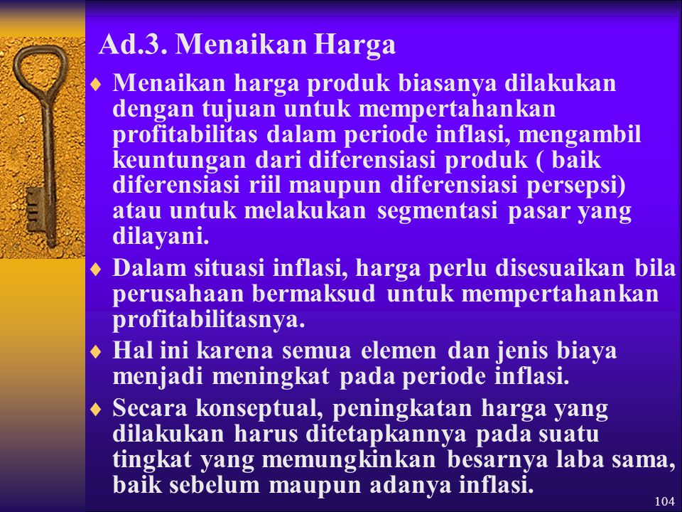 Ad.3. Menaikan Harga