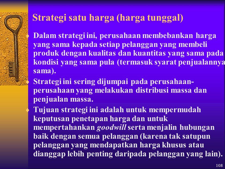 Strategi satu harga (harga tunggal)