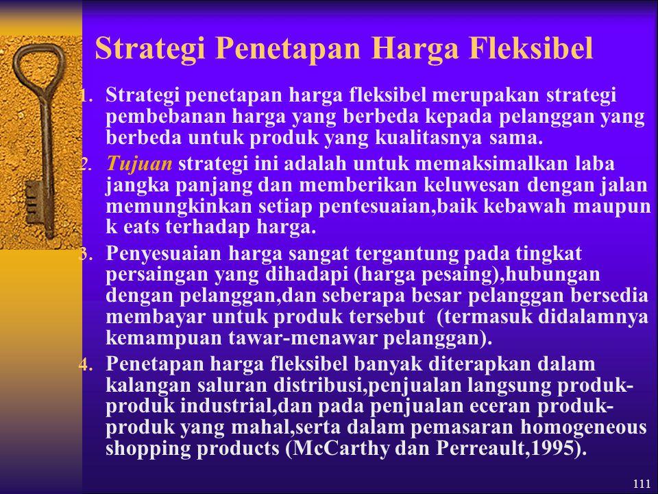 Strategi Penetapan Harga Fleksibel