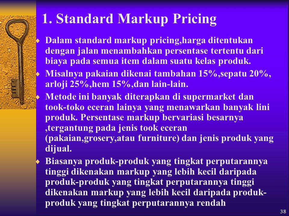 1. Standard Markup Pricing