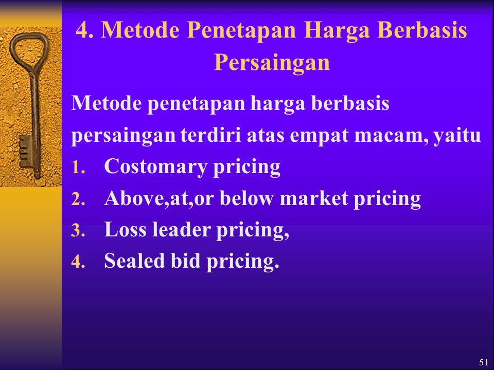 4. Metode Penetapan Harga Berbasis Persaingan