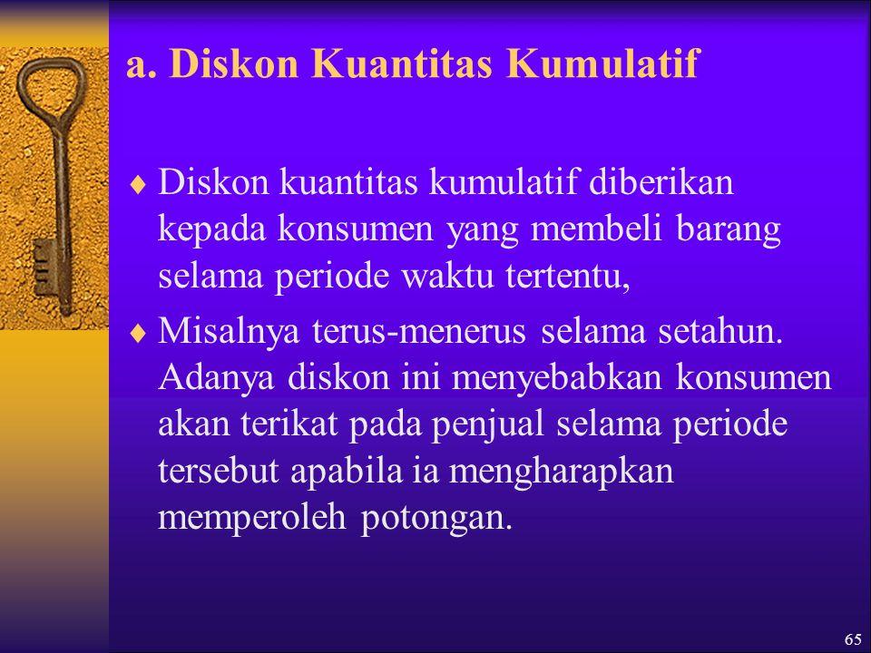 a. Diskon Kuantitas Kumulatif
