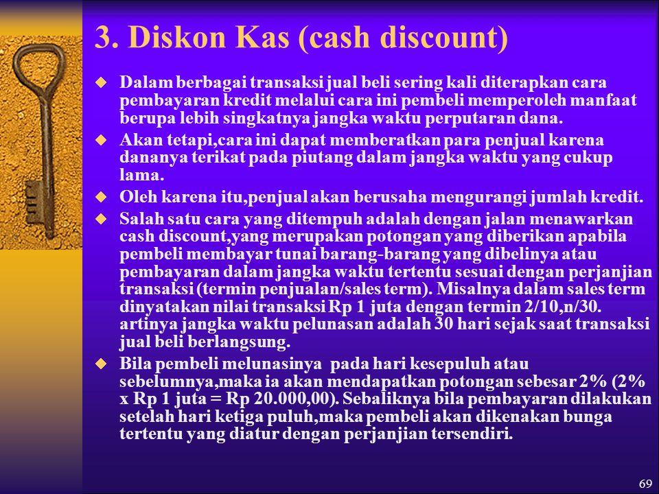 3. Diskon Kas (cash discount)