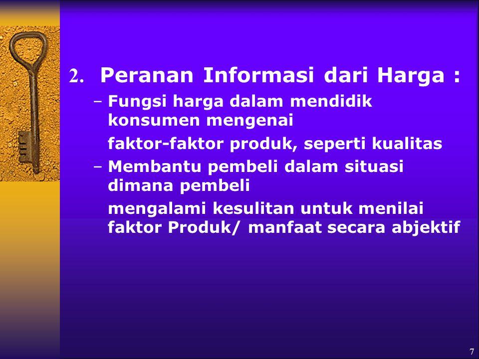 2. Peranan Informasi dari Harga :
