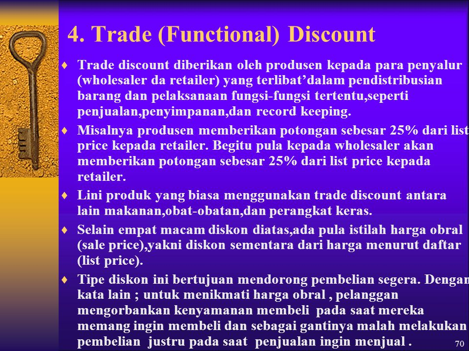 4. Trade (Functional) Discount