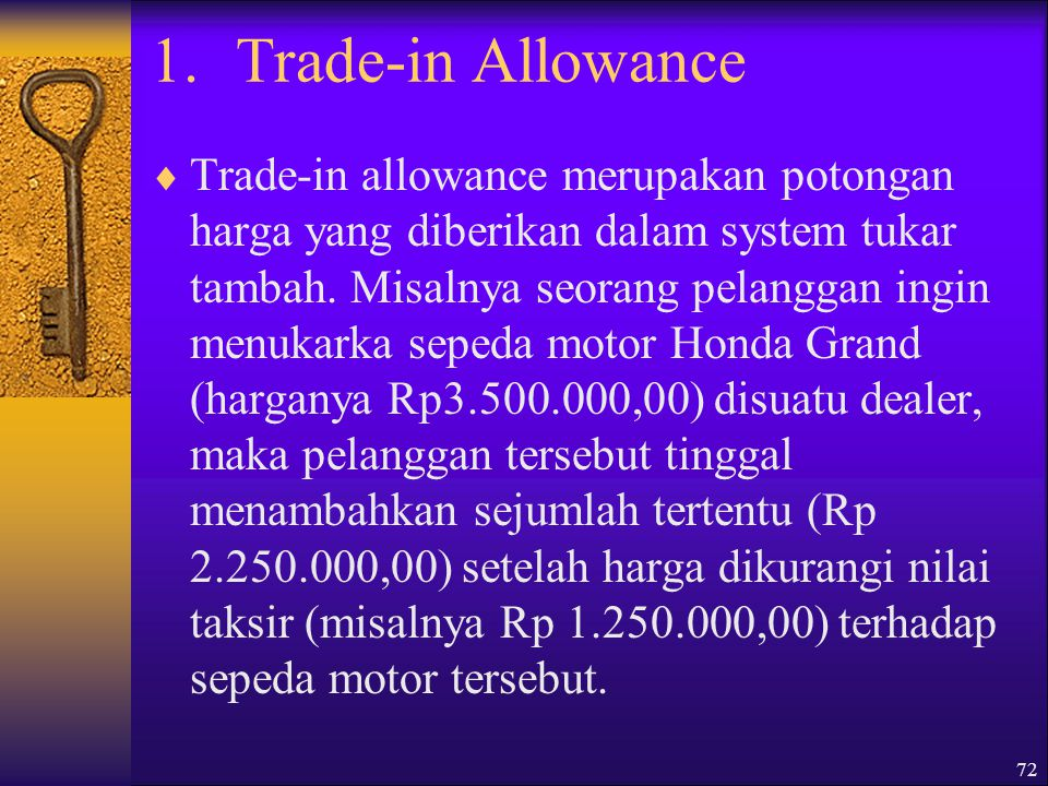 Trade-in Allowance