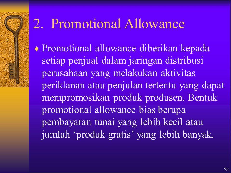 2. Promotional Allowance