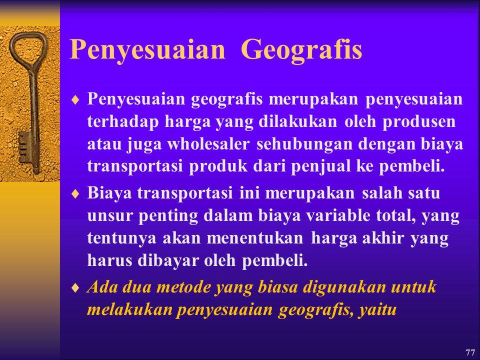 Penyesuaian Geografis