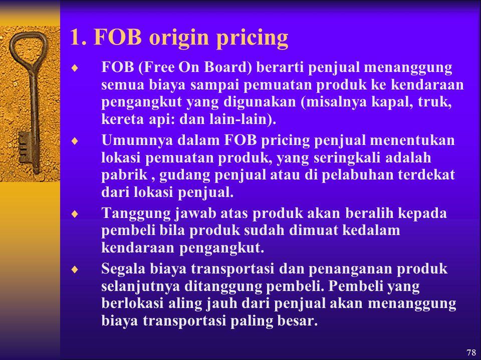 1. FOB origin pricing