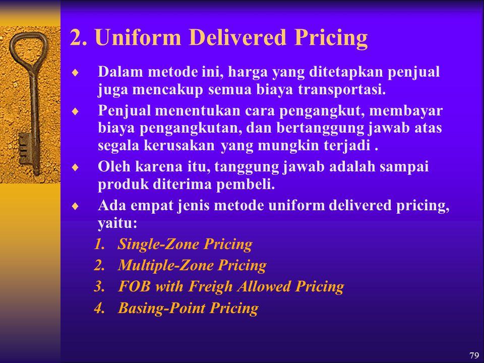 2. Uniform Delivered Pricing