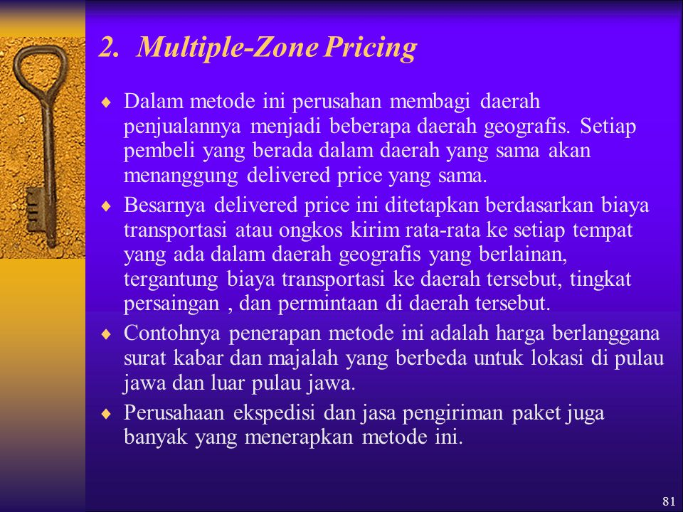 2. Multiple-Zone Pricing
