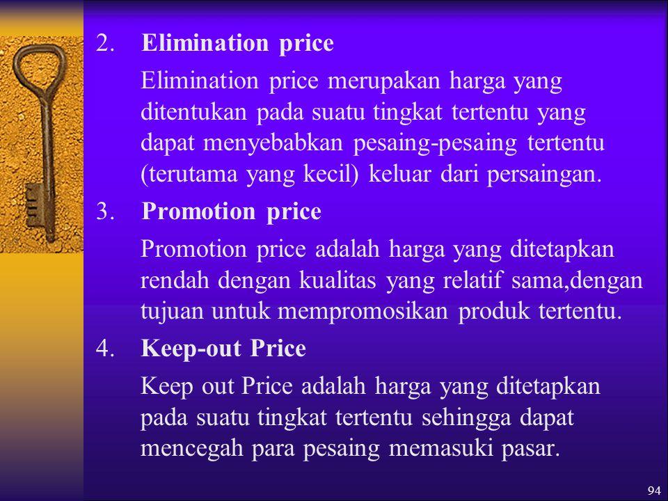 2. Elimination price