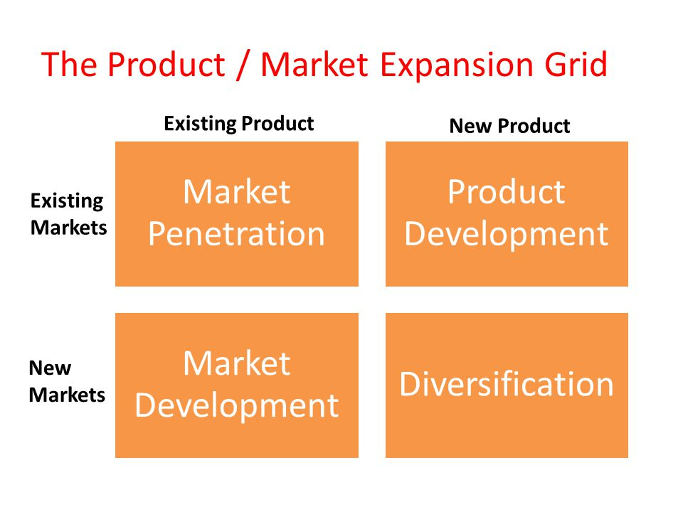 The Product / Market Expansion Grid