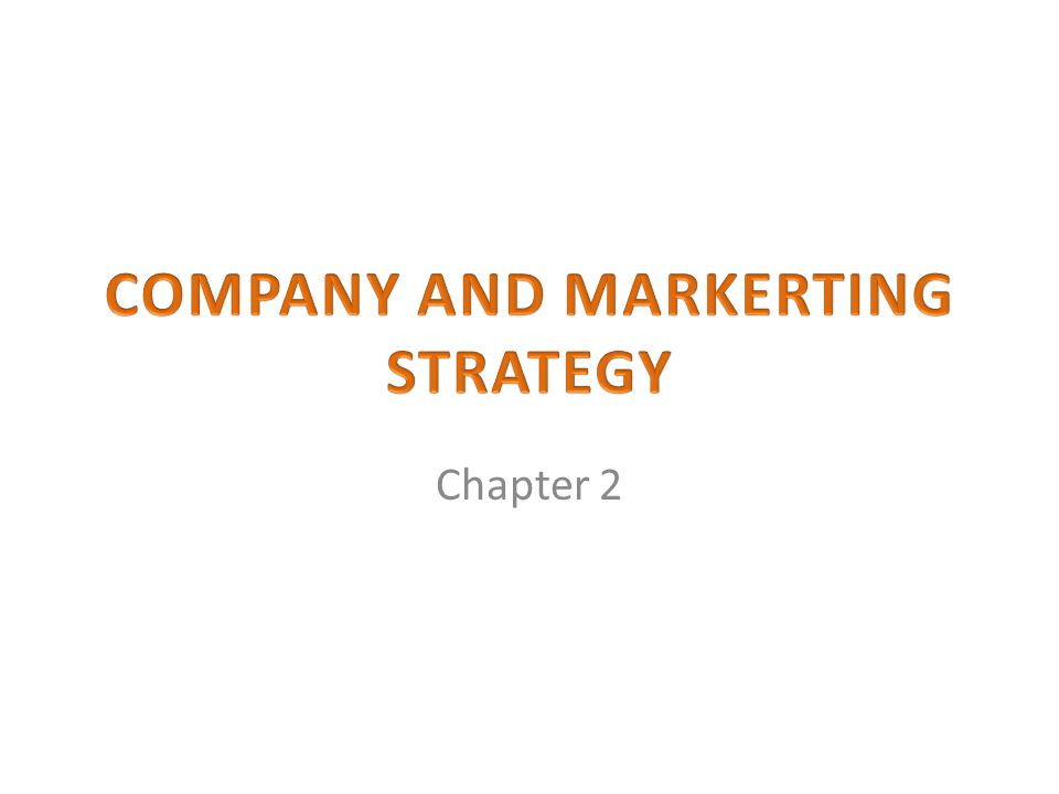 COMPANY AND MARKERTING STRATEGY