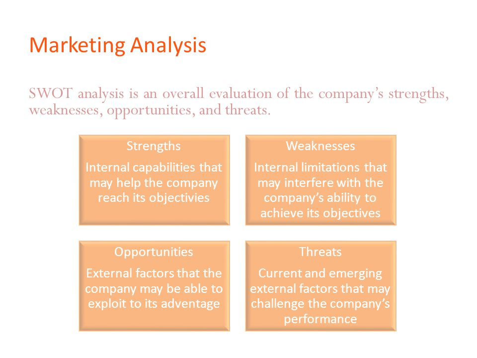 Internal capabilities that may help the company reach its objectivies
