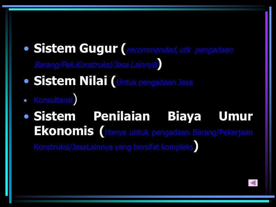 Sistem Nilai (Untuk pengadaan Jasa