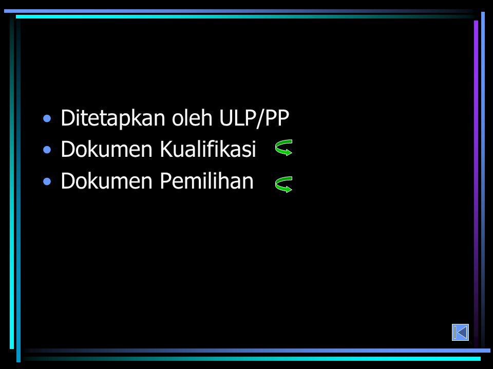 Ditetapkan oleh ULP/PP