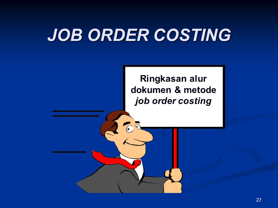 Ringkasan alur dokumen & metode job order costing