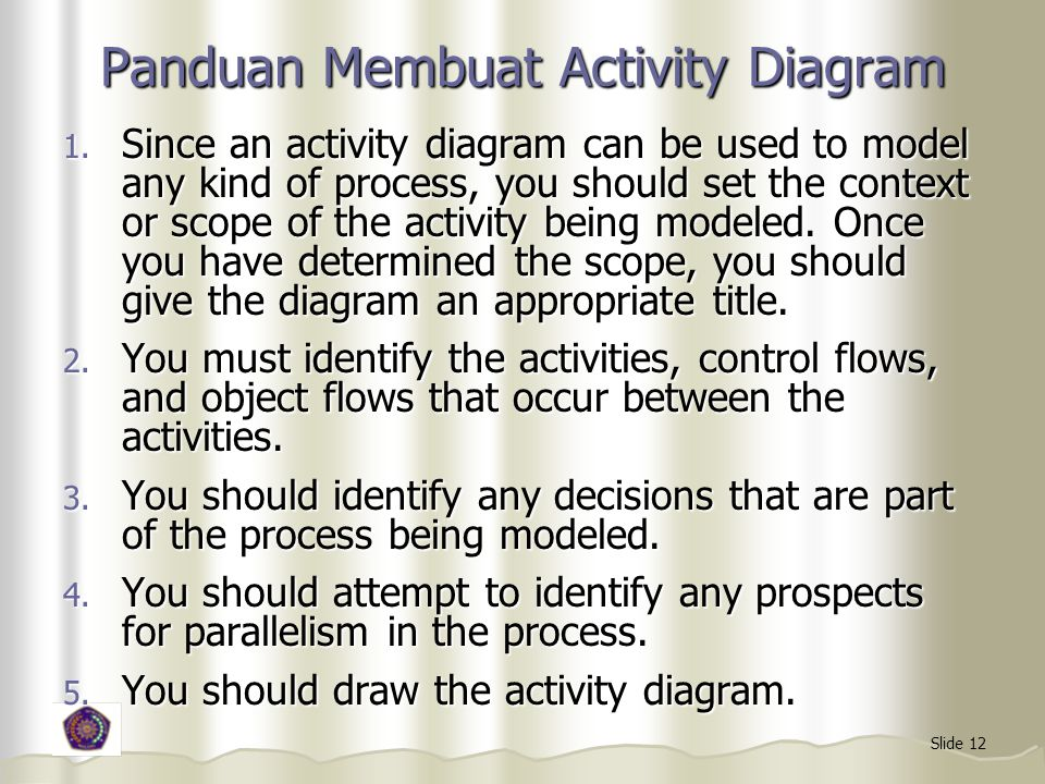 Panduan Membuat Activity Diagram