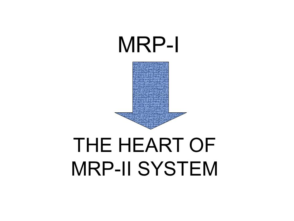 THE HEART OF MRP-II SYSTEM