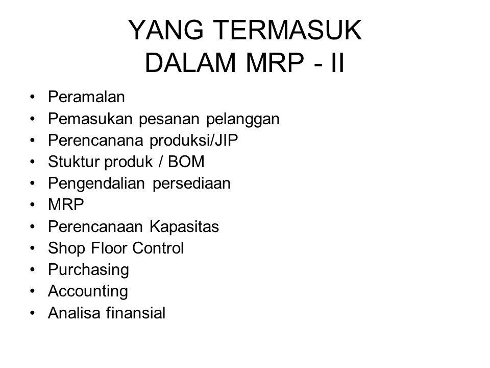 YANG TERMASUK DALAM MRP - II