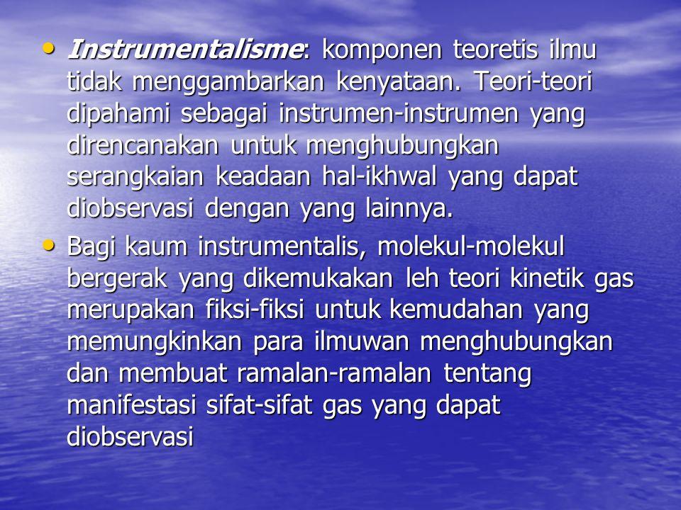 Instrumentalisme: komponen teoretis ilmu tidak menggambarkan kenyataan
