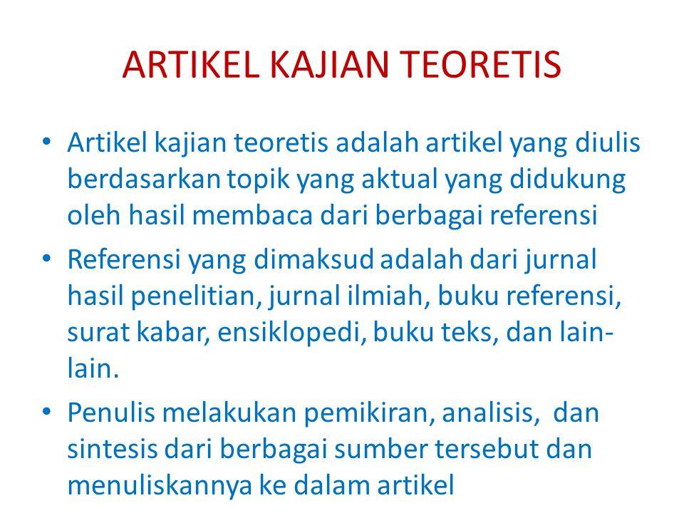 ARTIKEL KAJIAN TEORETIS