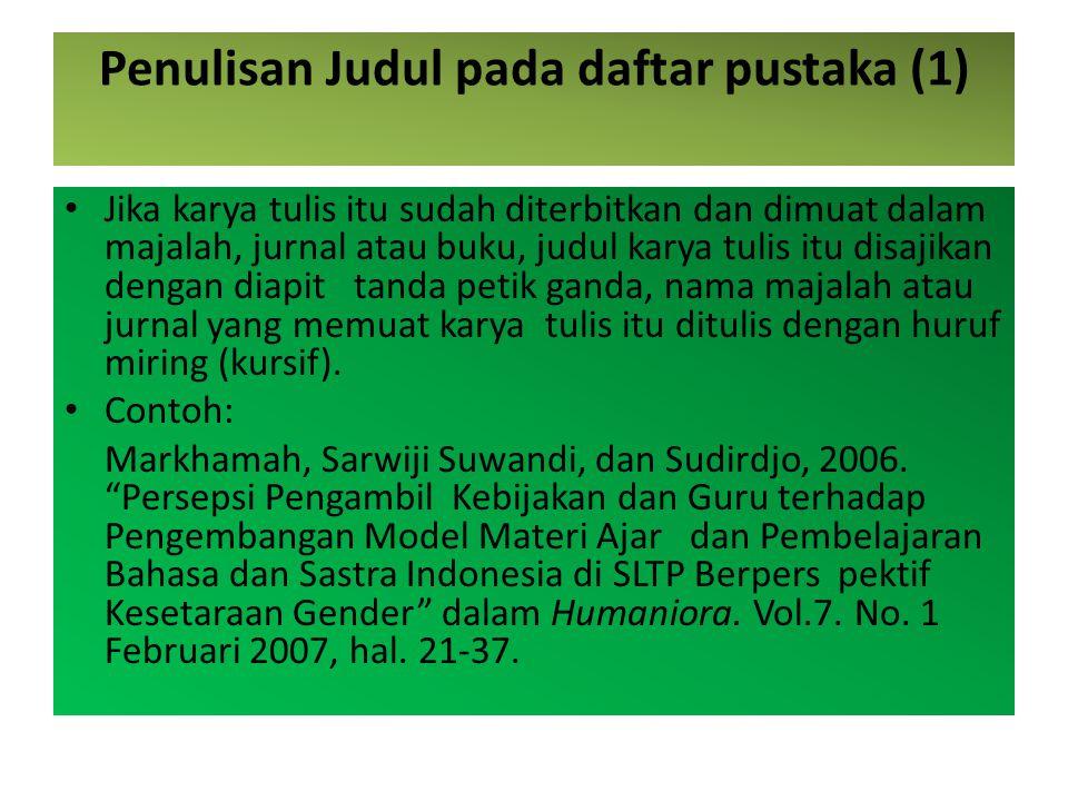 Penulisan Judul pada daftar pustaka (1)