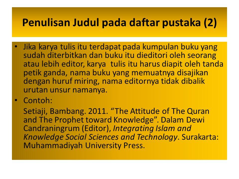 Penulisan Judul pada daftar pustaka (2)