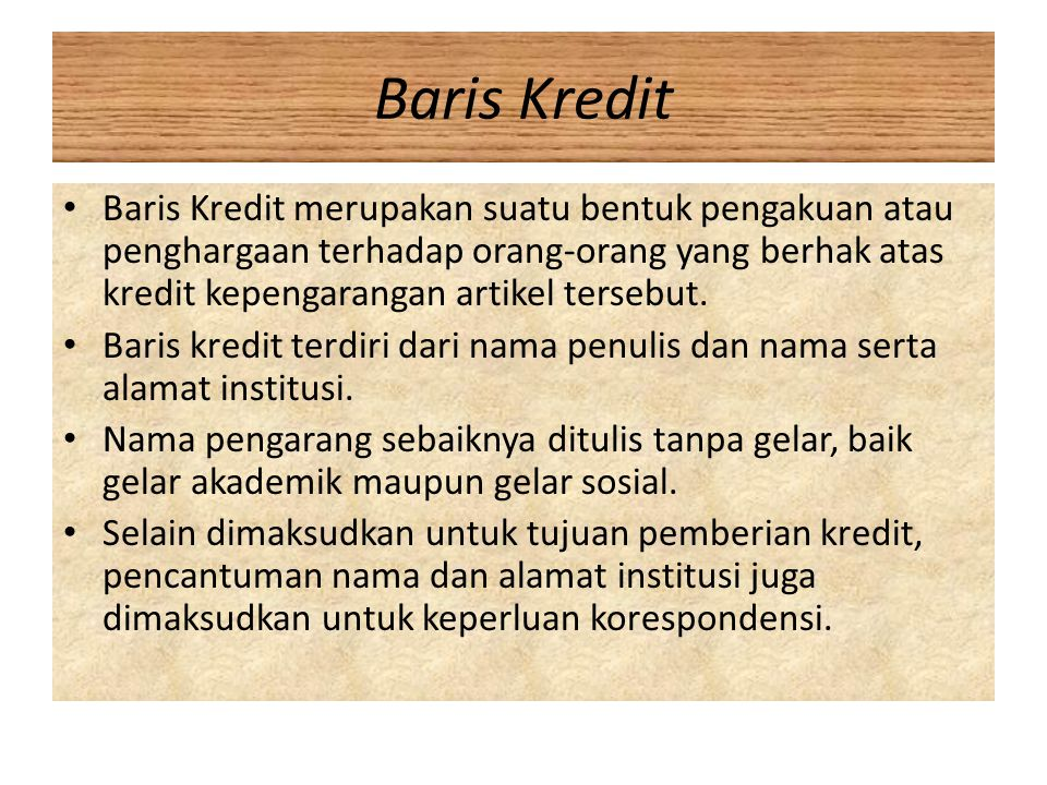Baris Kredit