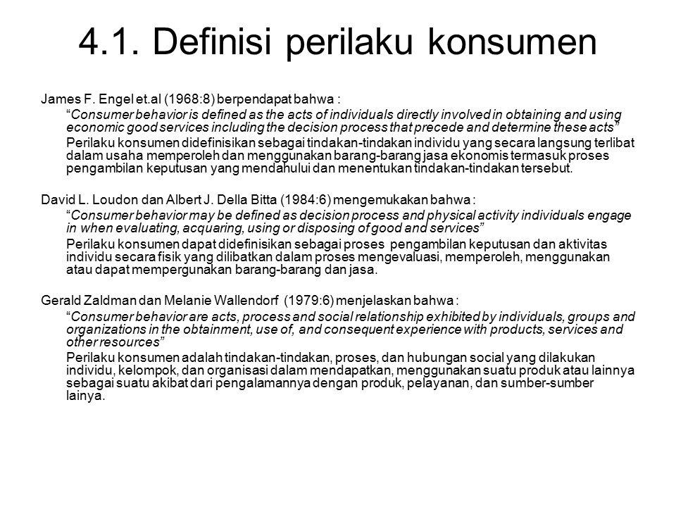 4.1. Definisi perilaku konsumen