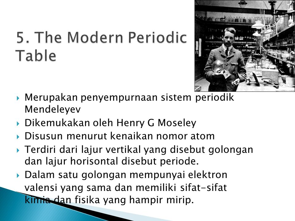 5. The Modern Periodic Table