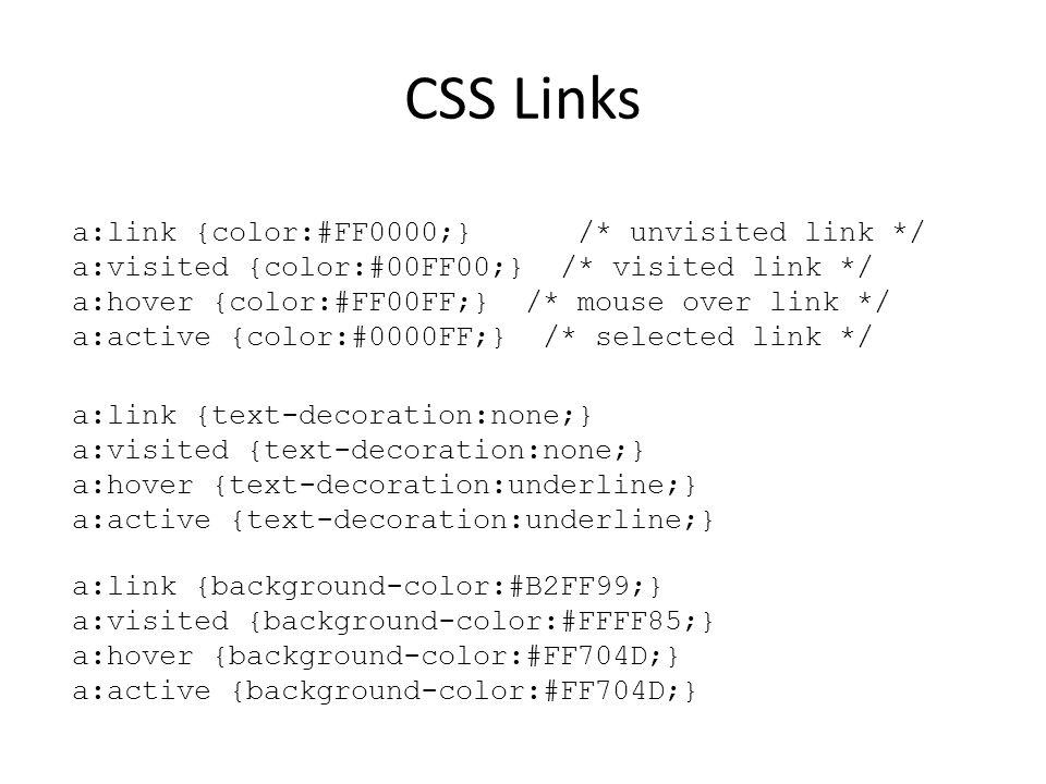 CSS Links