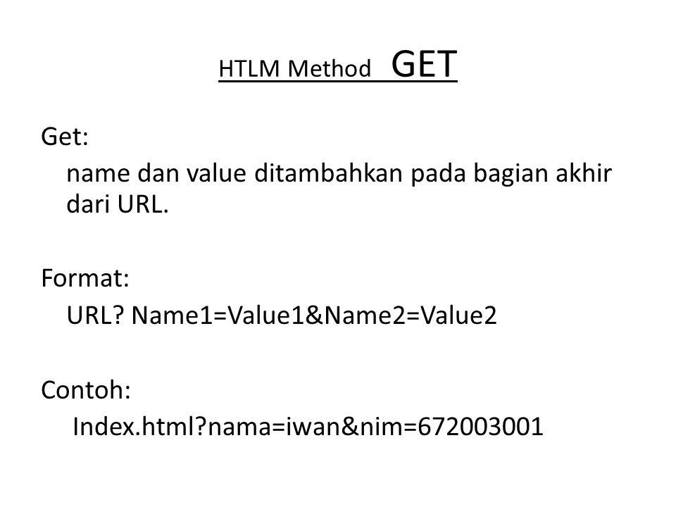HTLM Method GET