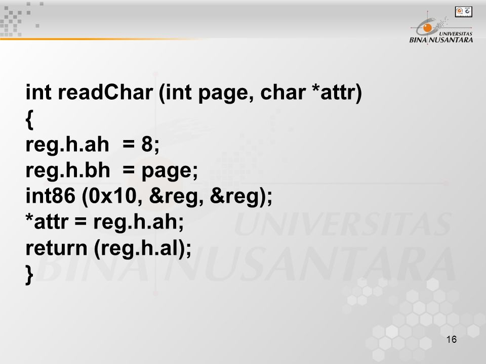 int readChar (int page, char *attr)