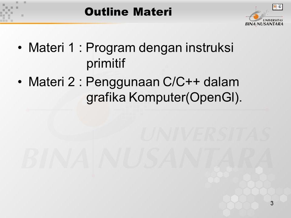 Materi 1 : Program dengan instruksi primitif